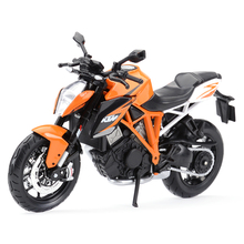 Maisto 1:12 KTM 1290 סופר דוכס R כתום למות יצוק כלי רכב אספנות תחביבים צעצועי דגם אופנוע