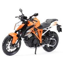 Maisto 1:12 ktm 1290 スーパーデュークrオレンジダイキャスト車両趣味オートバイモデルおもちゃ