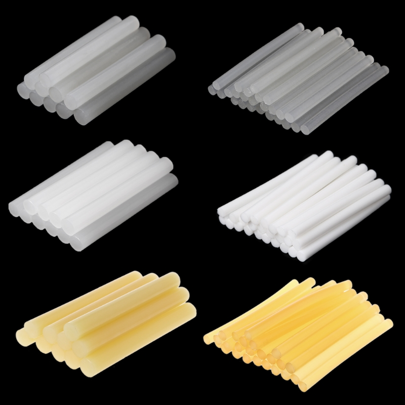 25pcs Hot Melt Glue Stick High Viscosity White 7mm For DIY Craft Toy Repair Tool