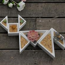 Multi-meat Flower Pot Silicone Mold Geometric Cement