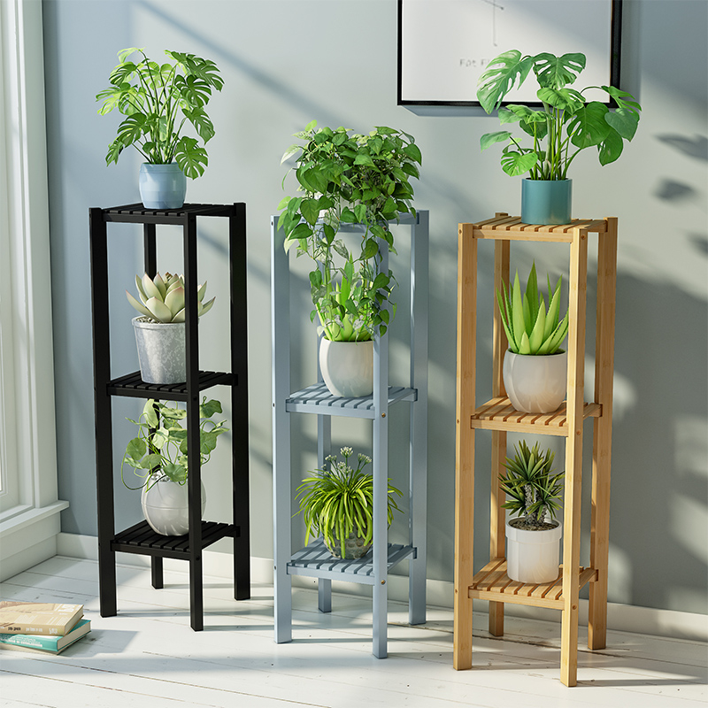 Flower Airs Room Introspection Space Balcony A Living Room Shelf Chlorophytum Green Luo Potted Plant Flowerpot Frame To Ground