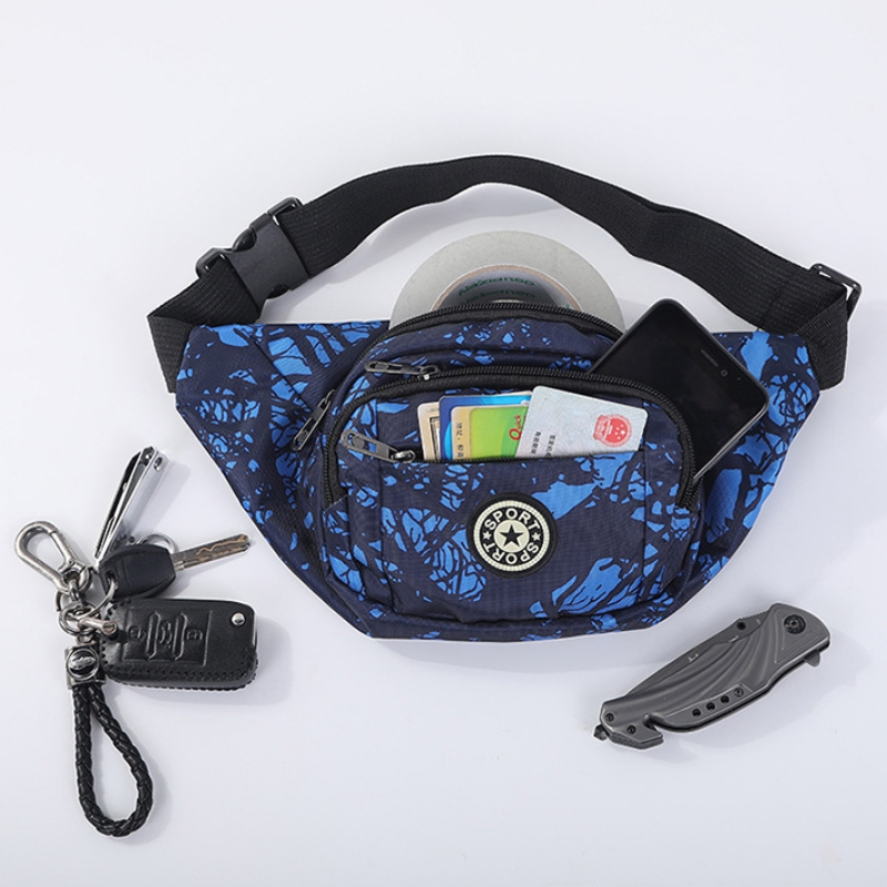 Women Men Unisex Waist Bags Multifunction Fanny Pack Hip Bum Bags Mobile Phone Bag Casual Chest Bag For Running Hiking Cycling