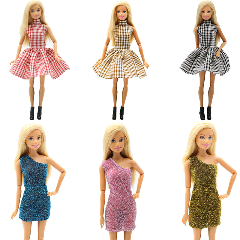 For Original Barbie 29cm Doll Accessories Party Dress Beautiful Shopping Fashion Clothes Handmake Wear Skirt Collection Brinqued