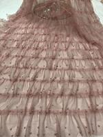 5yards nude 3D beaded ruffle Fabric,haute couture dress mesh,Photography Prop Backdrop,Wedding Decors, tulle ruffled baby tutu