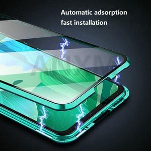 Image 4 - מתכת מגנטי מקרה עבור Huawei P20 P30 פרו Mate 10 20 פרו לייט מזג זכוכית חזרה מגנט מקרי כיסוי עבור כבוד 20 פרו 10i מקרה