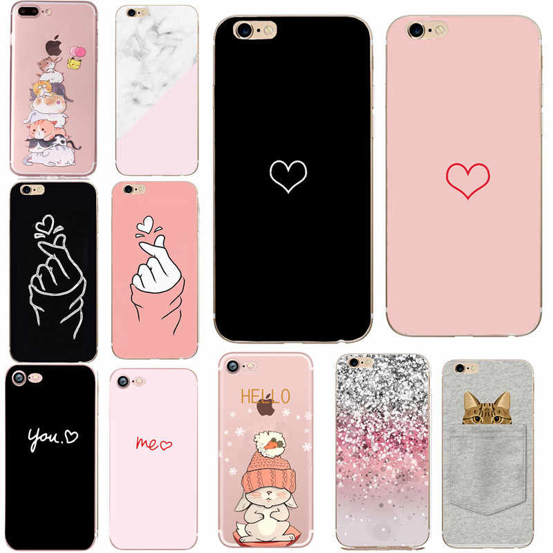 Soft Phone Case For Iphone 7 Plus 6 6s 5 5s Se 2020 Cover Coque Silicon Fundas For Apple Iphone 7 8 Plus X Xs Max Xr Accessories Case For Iphone Phone Casescase Plus Aliexpress