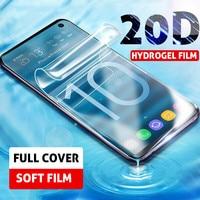 Película de hidrogel 20D para Samsung Galaxy S8 S9 S10 Plus Lite, Protector de pantalla para Samsung A51 A71 A6 A7 A8 A9 Plus 2018, sin cristal