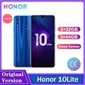 Honor 10 Lite, 3 Гб оперативной памяти, 64 ГБ/128 ГБ глобальная версия Android 9,0 Octa 6,2 дюймов 2340*1080P 24MP Камера Google Play для мобильного телефона الهاتف ال