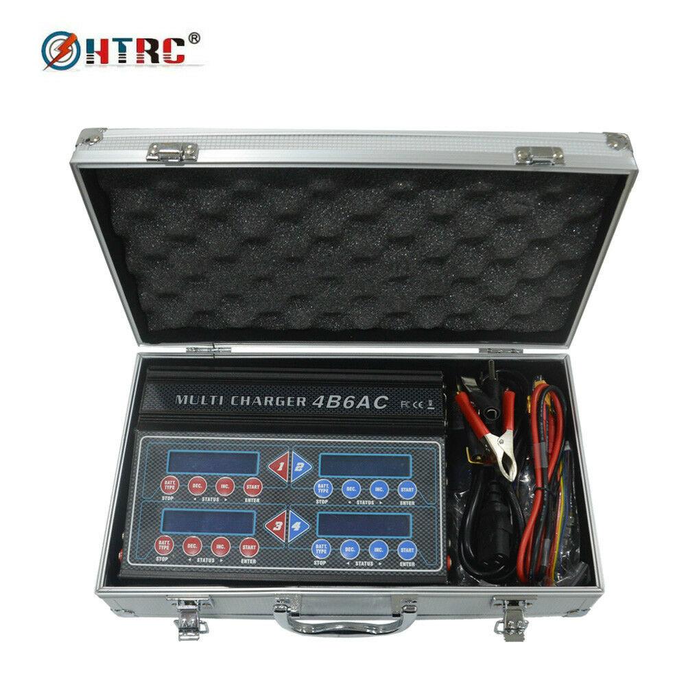Oyuncaklar ve Hobi Ürünleri'ten Parçalar ve Aksesuarlar'de HTRC Profesyonel 4B6AC Quattro RC şarj dengeleyici Deşarj Dahili AC Ni MH/Ni cd için/LiPo/LiFe/ liHv/pb/Akıllı Pil'da  Grup 1