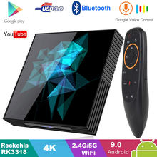 4GB 128GB Android 9.0 TV Box Smart Z2 32GB 64GB 2.4G/5G Wifi Bluetooth 4.2 4K Google Player PK H96 MAX RK3318 Android TV Box(China)