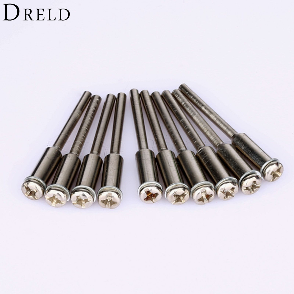 10Pcs Dremel Accessories  Cut-Off Wheel Holder Polishing Mandrel 2.35mm Shank Diamond Cutting Disc Arbor Mandrel For Rotary Tool