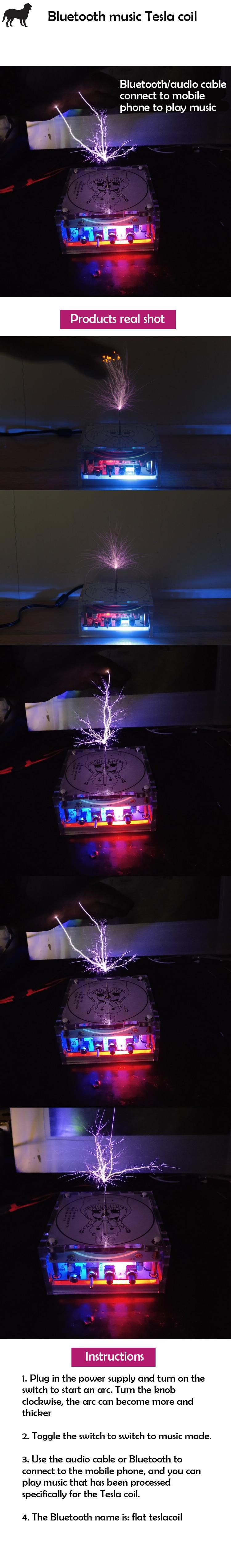 Alto-falante do plasma da bobina de tesla