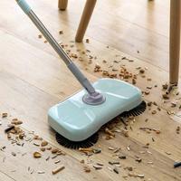 自動手プッシュスイーパー家庭マジックほうきちりとり床クリーナー電気のないクリーニング掃除ツール便利な -