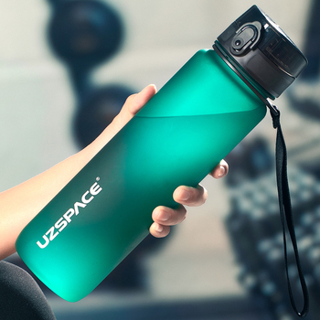 1000ml Large Capacity Water Bottle Portable Leakproof Shaker Frosted Plastic Drinkware Travel Camp Sports Direct Drinking Bottle