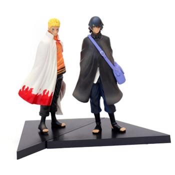 Anime Naruto Uzumaki Naruto Uchiha Sasuke Action Figure PVC Model Collection Figurine Toy Doll 2pcs/lot 17cm цена 2017