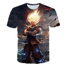 2019 New Arrival Cool Goku Dragon Ball Z 3d T Shirt Summer Fashionable Short Sleeve Tee Tops Men Anime DBZ Harajuku T-Shirts(China)