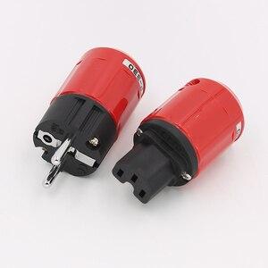 Image 3 - P330+C330 Audio Grade Rhodium Plated EU Schuko AC Power Plug+ IEC Connector Plug DIY Power Cord