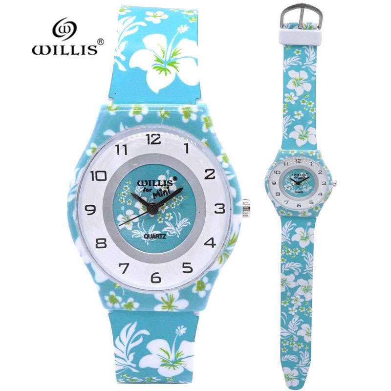 New Arrival Fashion Child Floral Flower Design Analog Lady Women Watch Children Clock Kid Quartz Wrist Watches Kol Saati Relogio