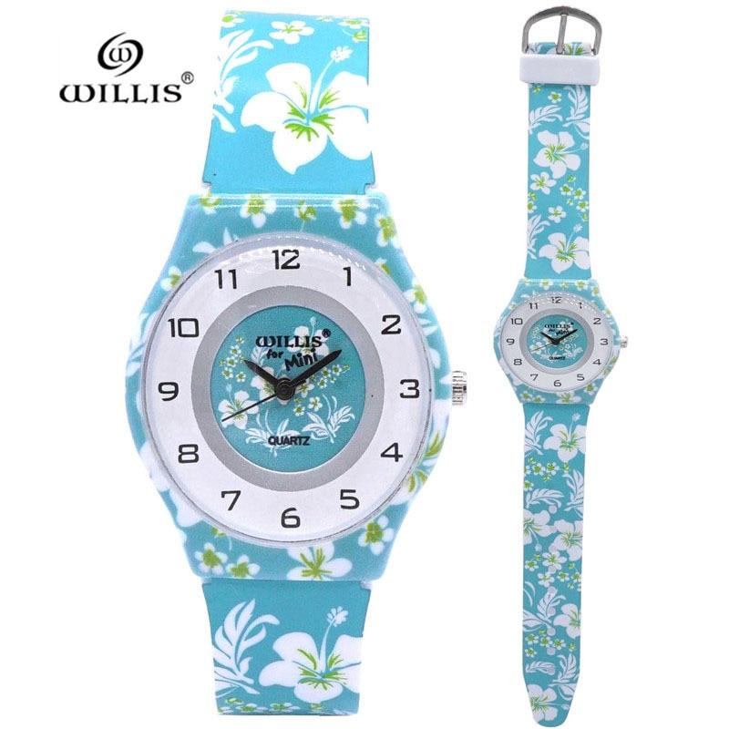 New Arrival Fashion Child Floral Flower Design Analog Lady Women Watch Children Clock Kid Quartz Wrist Watches Kol Saati Relogio