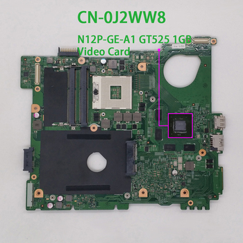 for Dell Inspiron 15R N5110 CN-0J2WW8 0J2WW8 J2WW8 GT525 1GB DDR3 Laptop Motherboard Mainboard Tested for dell inspiron 15r m5010 laptop motherboard cn 0yp9np 0yp9np 09913 1 48 4hh06 011 ddr3 free shipping 100% test ok
