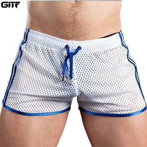 GITF New Gym Mens Sport Running Shorts Quick Dry grid Workout Short Pants GYM Wear Men Soccer Tennis Training Beach Swim Shorts(China)