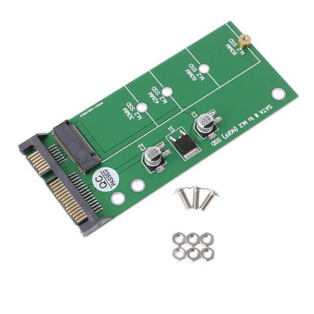 M.2 Ngff To Sata3 Hard Disk Adapter Card Stable / High Speed Ngff Solid State Drive To 2.5 Sata Smart Compatibility