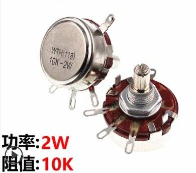 Potenciômetro giratório do atarraxamento de WH118-1A 2w 10k ohm (WTH118-1A 2w) 10k, acessórios de potência