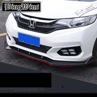 BeingWins Fit for HONDA FIT JAZZ GK5 2014 2018 modified Front lip Automobile front lip Front bumper grill