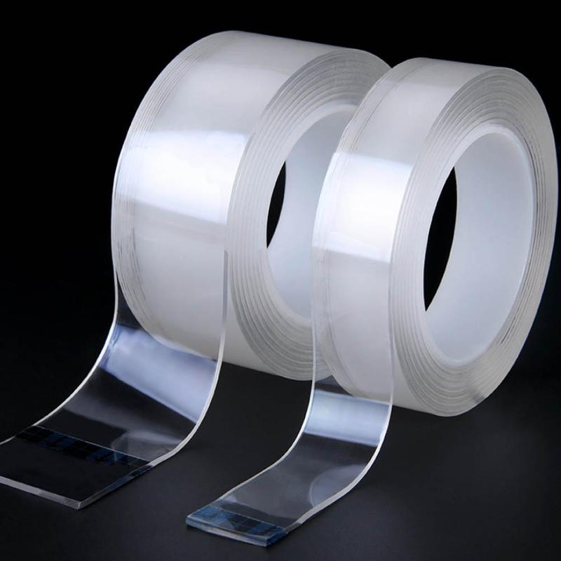 Transparent, Unmarked Nano-double-sided Tape Ten Thousand Times Water Washing Strong Adsorption God Waterproof Magic Paste