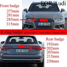 4 кольца 3D ABS серебристый или черный Автомобильный капот Передняя крышка гриль задний багажник эмблема логотип значок наклейка для Audi автом...