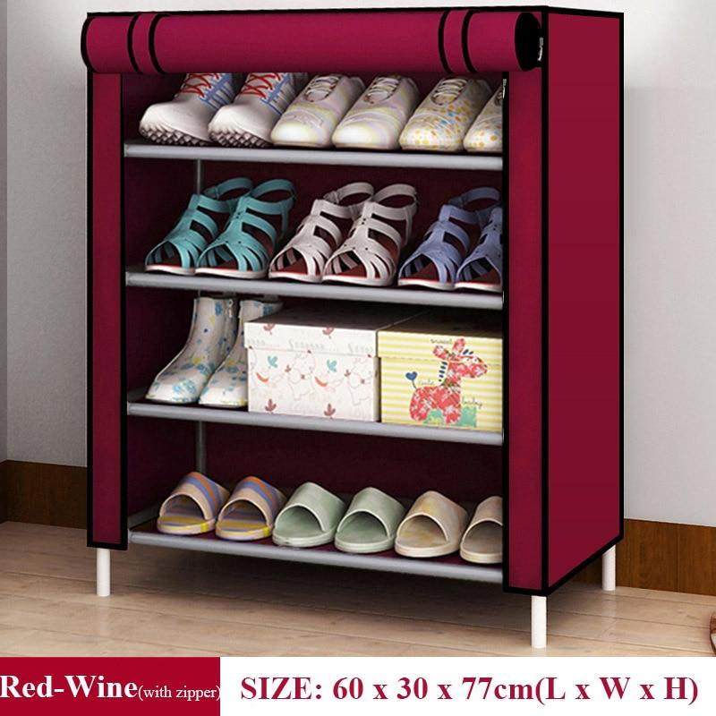 Hot Simple Shoe Rack Non-Woven Dustproof Storage Shoe Cabinet Shoemaker Storage Bag Space Saving Shoe Storage 3