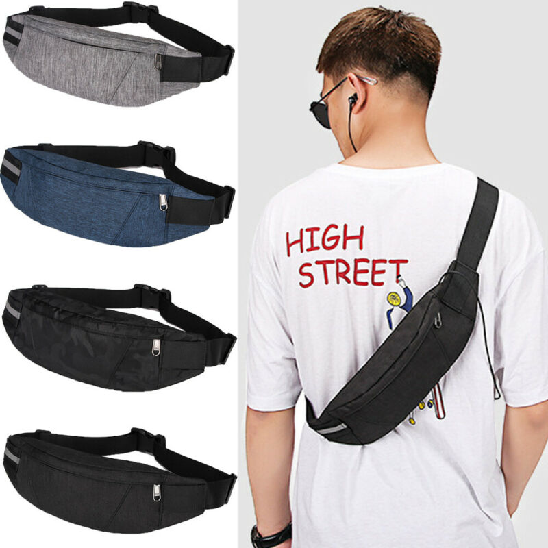 Mens Zipper Waist Bag Sling Messenger Shoulder Chest Bag Fanny Pack Backpack Hot  /BY