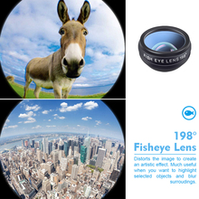 Fisheyeมุมกว้างMacroเลนส์กล้องโทรทรรศน์APEXEL APL DG10 10 ใน 1 ชุดเลนส์กล้องสำหรับสมาร์ทโฟน