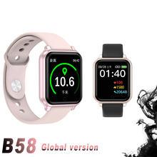 Смарт часы b58 с пульсометром тонометром и защитой класса ip67
