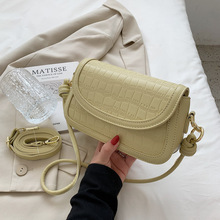 High Quality Ladies Stone Pattern Shoulder Bag Simple and Fashionable Women's Bag 2021 New Square Bag Girly Messenger Bag