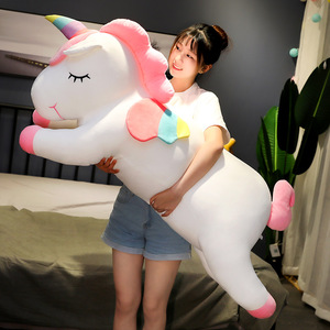 25-80cm Kawaii Giant Unicorn Plush Toy Soft Stuffed Unicorn Soft Dolls Animal Horse Toys For Children Girl Pillow Birthday Gift
