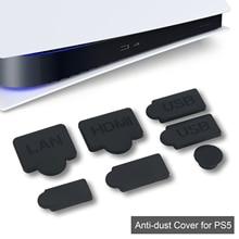 7PCS 실리콘 먼지 플러그 세트 USB 인터페이스 안티 먼지 캡 커버 PS5 커버 스 토퍼 게임 콘솔 액세서리 부품