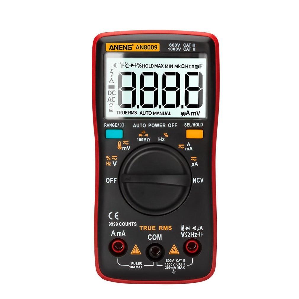 AN8009 Professional High Precise 6000 counts 1000V AC DC Digital Multimeter Ohm Hz NCV Live C/F Duty Multimetro Voltage Meter