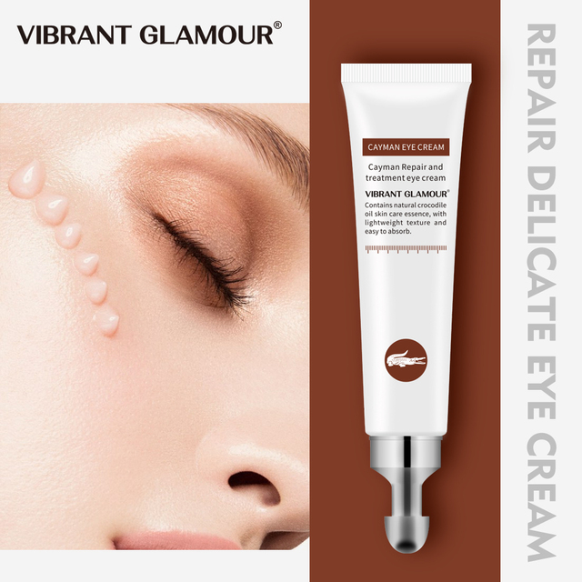 VIBRANT GLAMOUR Crocodile Anti-Aging Eye Cream Remove Dark Circles Puffiness Lighten fine lines Whitening Moisturizing eye care 1
