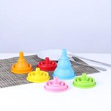 Small Funnel Kitchen-Tool Mini Liquid-Dispensing Food-Grade Folding Household Silicone