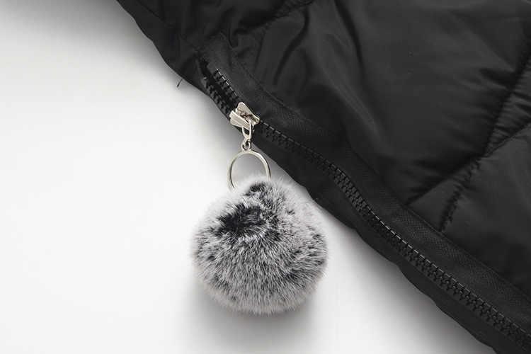 2019 Женское зимнее пальто с натуральным мехом размера плюс, длинная теплая женская зимняя куртка с капюшоном, женские парки с биологическим пухом 4XL