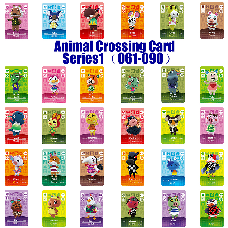 Series 1 (061 to 090) Amiibo Animal Crossing Card Work for NS Games Amibo Switch Rosie Welcome Stickers New Horizons NFC image