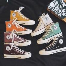2021 nova lona sapatos femininos adolescentes sapatos de skate primavera verão doce cor rua sneaker todos os jogos ao ar livre footware 35-40