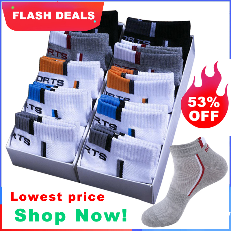 Ankle-Socks Short Mesh Thin Breathable Cotton Men High-Quality Summer Casual 10-Pair