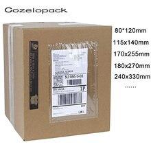 20 шт/14 размеров упаковочный лист конверт с прозрачной лицевой