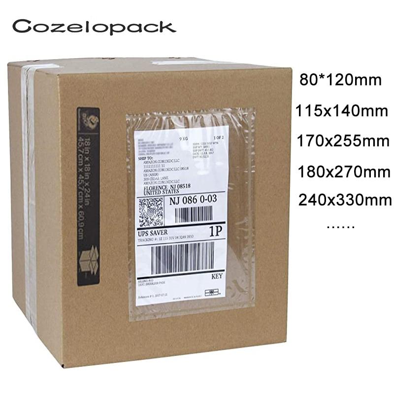 Envelopes de embalagem de 20 peças/14 tamanhos, envelope de envelope de deslizamento de voz transparente para rosto, bolsa autoadesiva de envelopes de etiqueta de voz