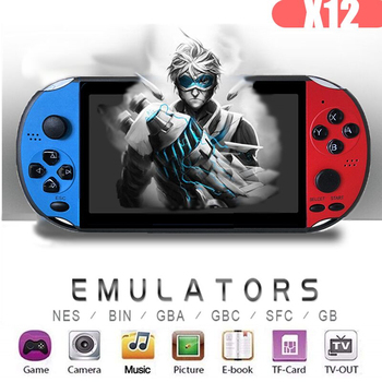 5.1 inch Handheld Game Player X12 PLUS Retro Video Game Console Built-in 2000+Classic Games Support TF Arcade Game Consoles large arcade fighting game machine in video games tekken tag tournament 2 ps3