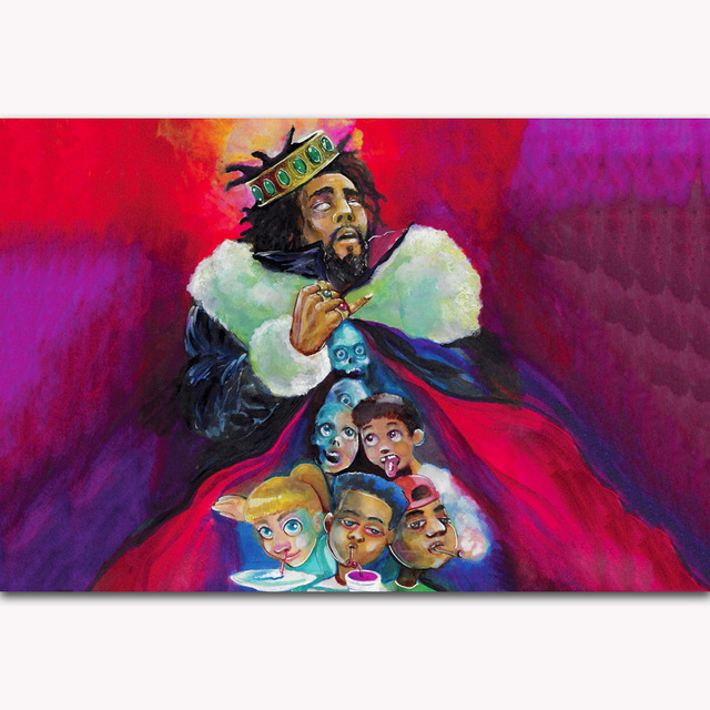 Hot J Cole Hip Hop K.O.D Cover KOD 2018 Rap Music Album Art Poster Canvas Home Decoration Home Wall Picture Printing image