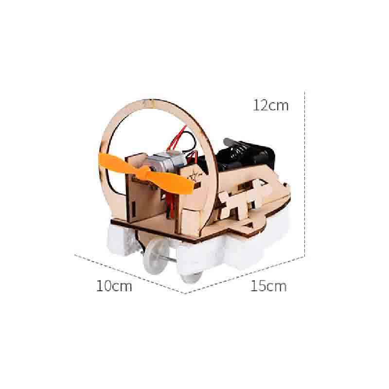 Saizhibaba Wooden Diy Amphibious vehicle Model Toy Developing Intelligent Science Education STEM Toys Birthday Gift For Children