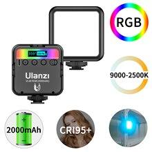 Ulanzi VL49 RGB bolsillo luz LED para vídeo 2700K 9000K en la cámara de luz Mini bolsillo llenar de luz iluminación Vlog Luz